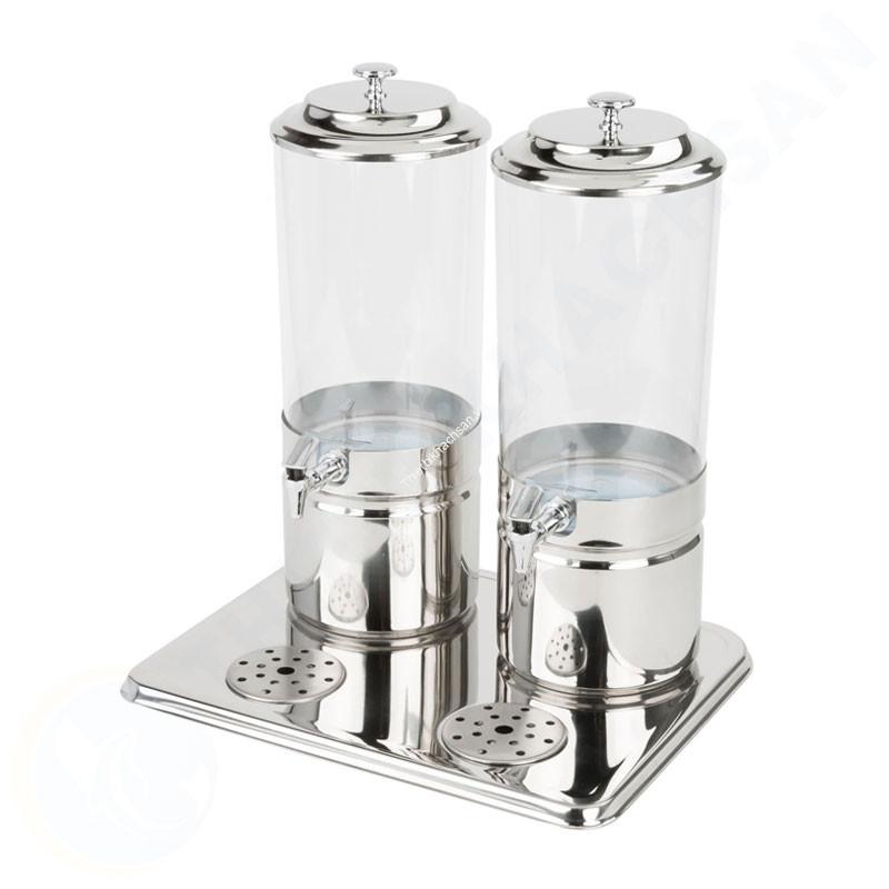 Bình nước trái cây buffet 2 ngăn 14 lít làm lạnh bằng đá gel AT90212-2 hình3