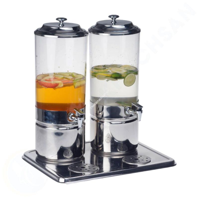 Bình nước trái cây buffet 2 ngăn 14 lít làm lạnh bằng đá gel AT90212-2
