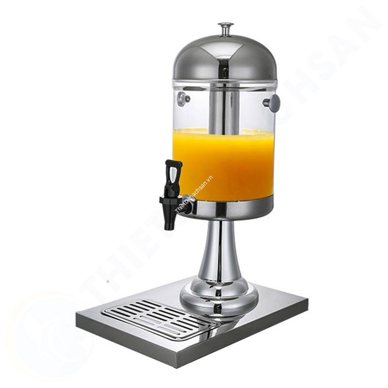 Bình đựng nước hoa quả giá rẻ 1 ngăn 8 lít cổ chân nhựa mạ BC2201-R