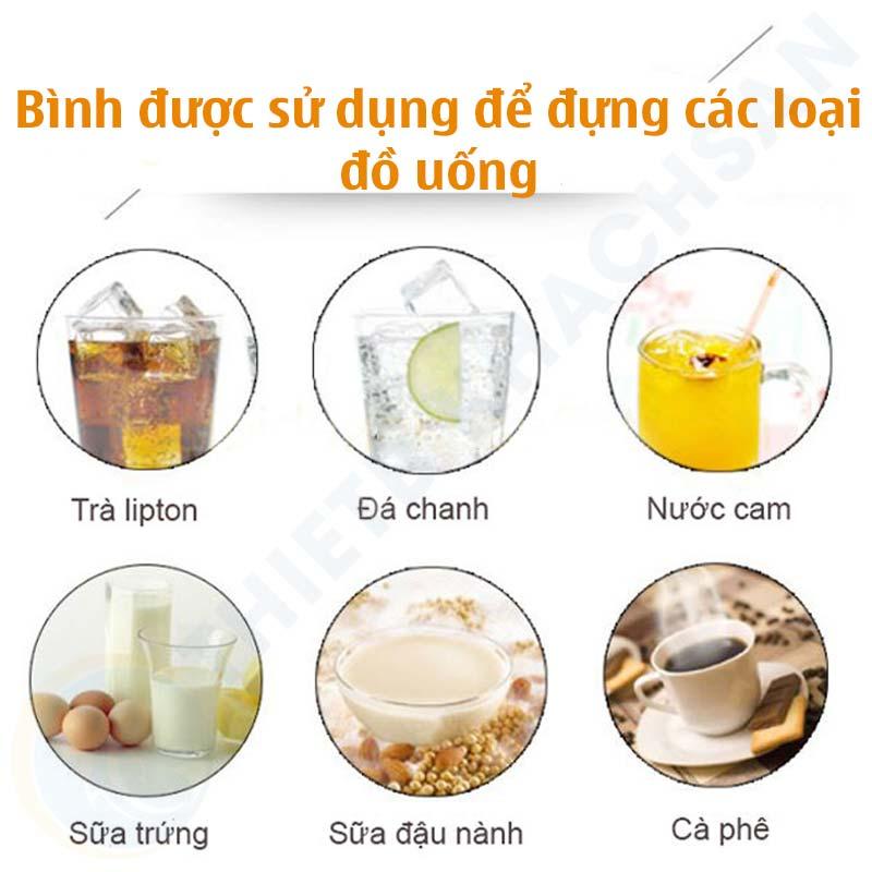 Bình được sủ dụng để đựng các loại đồ uống gì