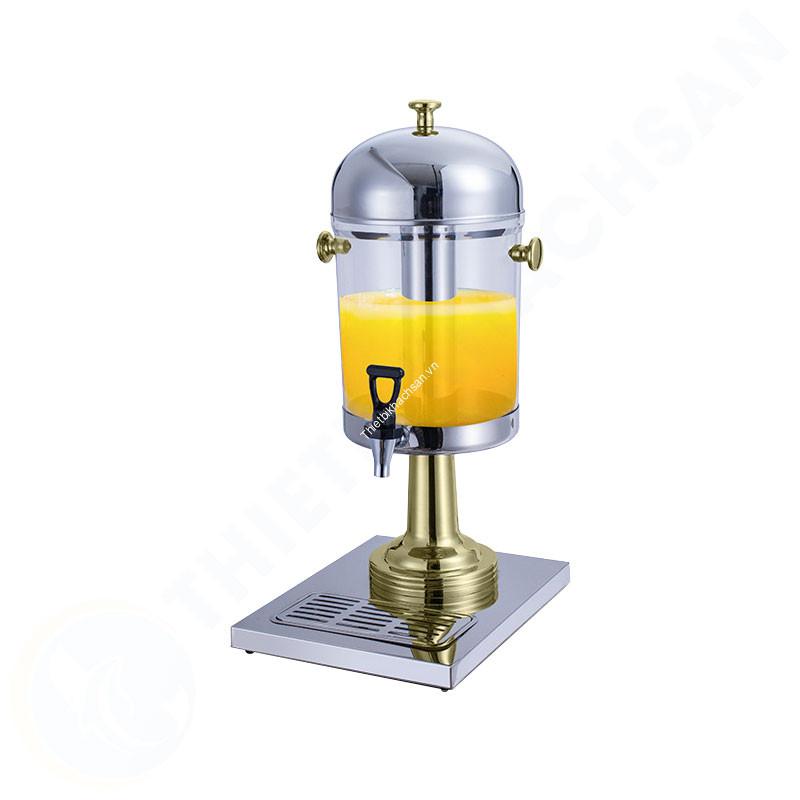 Bình đựng nước ép trái cây inox chân vàng 1 ngăn 8 lít BC2214-1G