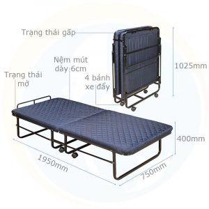 Thông số kỹ thuật giường extra bed