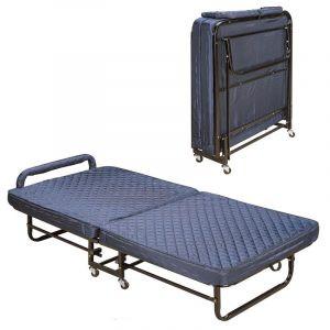 Giường extra bed nệm xanh dày 09 cm sắt sơn EX7122-9