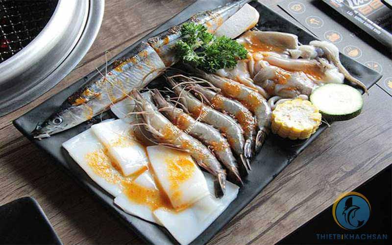 Ảnh buffet hải sản tại Hà Nội