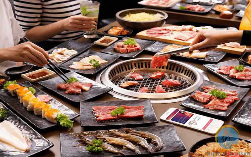 Ảnh buffet món Hàn