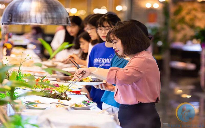 Hình ảnh tiệc buffet sáng tại khách sạn