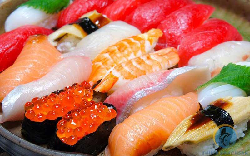Ảnh buffet sashimi Nhật Bản