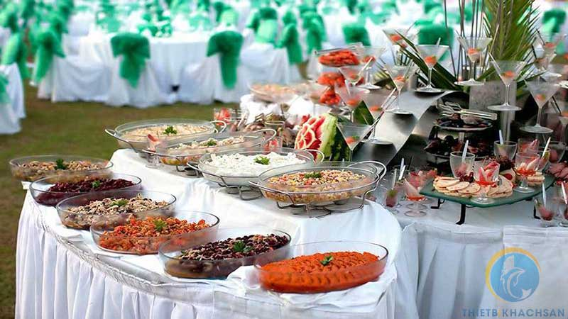 Ảnh buffet tiệc cưới
