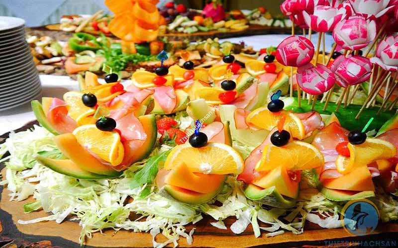Ảnh buffet trái cây, rau củ quả