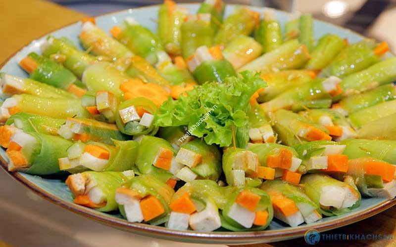 Món buffet chay ngon tại nhà hàng chay Hương Thiền
