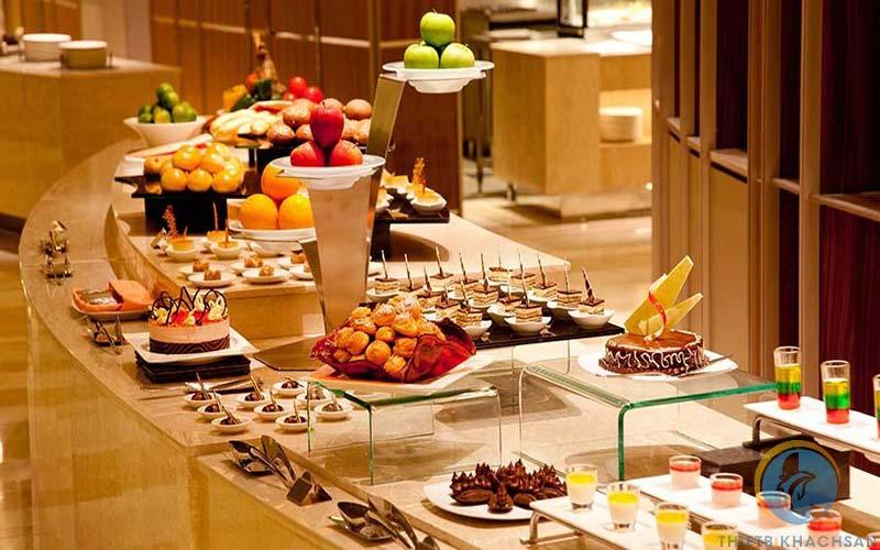 Hình ảnh buffet nhà hàng sang trọng