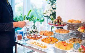Hình ảnh trang trí không gian tiệc buffet