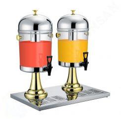 Bình nước trái cây giá rẻ chân vàng 2 ngăn 16 lít BC2202-2G